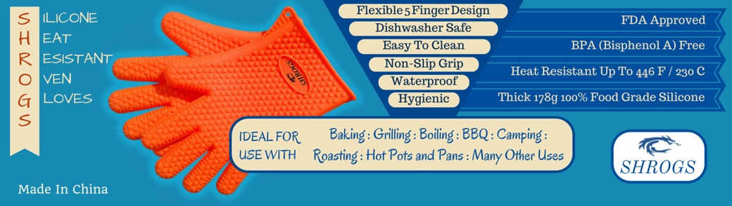 SHROGS Silicone Oven Gloves